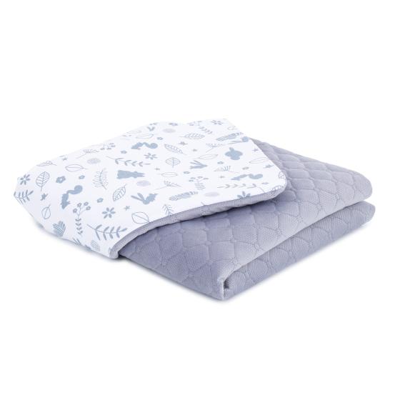 deka velvet les biela siva