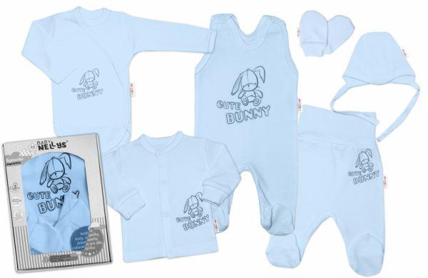 velka-sada-do-porodnice-cute-bunny-6-dielna-modra