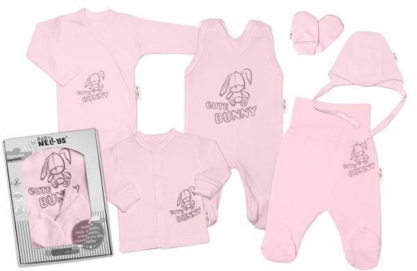 velka-sada-do-porodnice-cute-bunny-6-dielna-ruzova