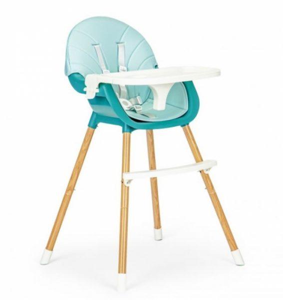 eco toys jedalenska stolicka stolcek-2v1colby svetlo modra