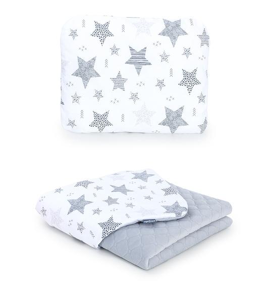 deka + vankúšik velvet starmix sivá