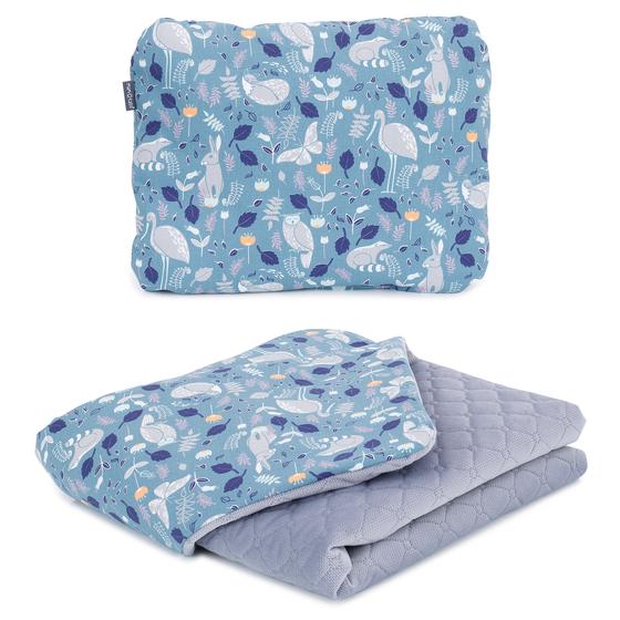 deka + vankúšik velvet volavky sivá
